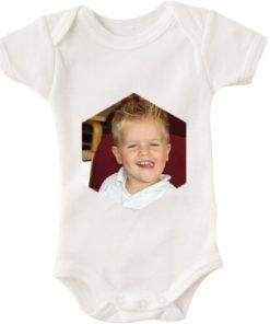 baby bodystocking foto sekskant hvid