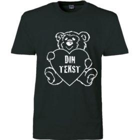 T-shirt din tekst I bamse sort