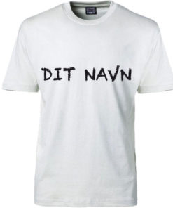 T-shirt dit navn hvid