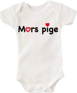 baby bodystocking mors pige hvid