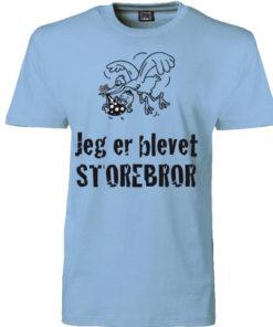 T-shirt jeg er blevet storebror med stork blaa