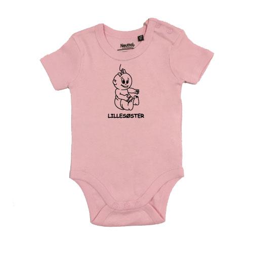baby bodystocking lillesoester siddende lyseroed