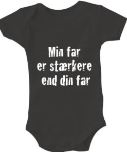 Baby bodystocking min far er staerkere end din far sort