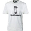T-shirt shit happens prins hvid