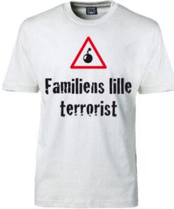 T-shirt familiens terrorist hvid
