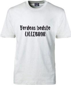 T-shirt verdens bedste lillesoester hvid