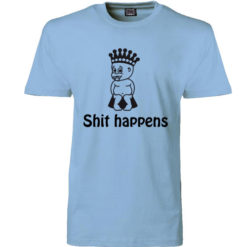 t-shirt shit happens prins blaa