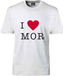 T-shirt I love mor hvid