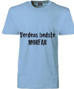 T-shirt verdens bedste morfar blaa