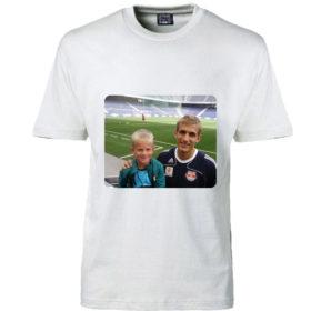 T-shirt dit foto rektangel hvid