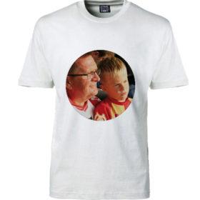 T-shirt dit foto rund hvid