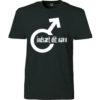 T-shirt dit navn i mandetegn sort