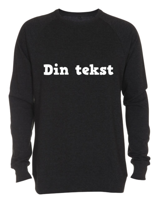 antracite crewneck sweatshirt med din tekst