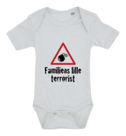 baby bodystocking familiens lille terrorist blaa