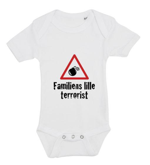 baby bodystocking familiens lille terrorist hvid
