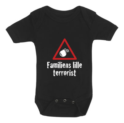 baby bodystocking familiens lille terrorist sort