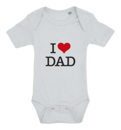 baby bodystocking i love dad blaa