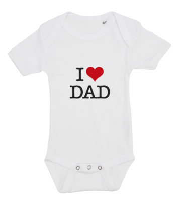 baby bodystocking i love dad hvid
