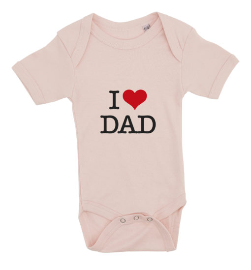 baby bodystocking i love dad lyseroed