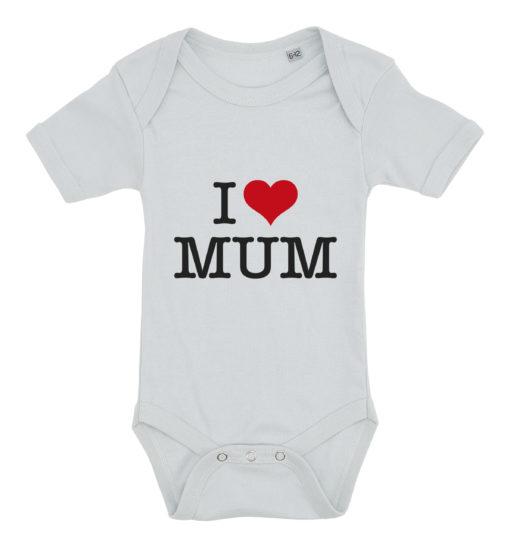 baby bodystocking i love mum blaa