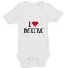 baby bodystocking i love mum hvid