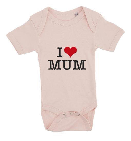 baby bodystocking i love mum lyseroed