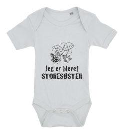 baby bodystocking jeg er blevet storesøster blaa