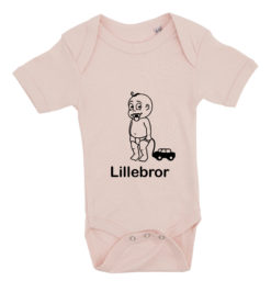 baby bodystocking lillebror med bil lyseroed