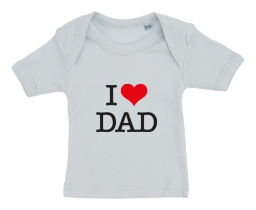 baby t-shirt i love dad blaa
