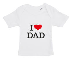 baby t-shirt i love dad hvid