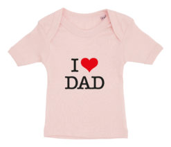 baby t-shirt i love dad lyseroed