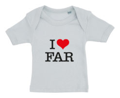 baby t-shirt i love far blaa