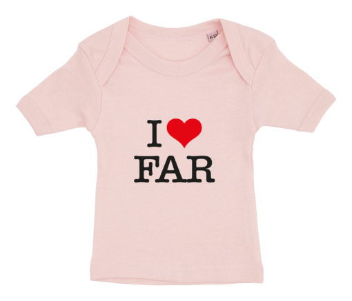 baby t-shirt i love far lyseroed
