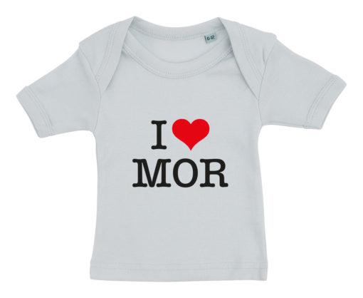 baby t-shirt i love mor blaa