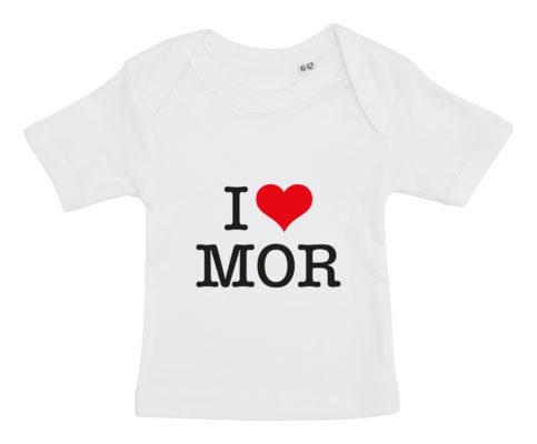 baby t-shirt i love mor hvid