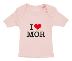 baby t-shirt i love mor lyseroed