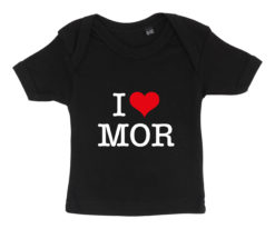 baby t-shirt i love mor sort