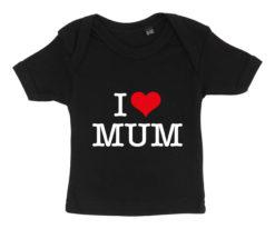 baby t-shirt i love mum sort