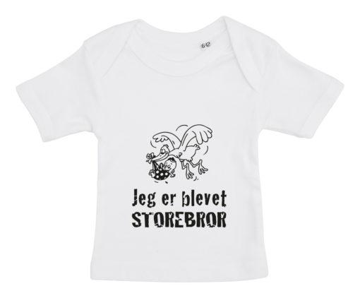 baby t-shirt jeg er blevet storebror hvid