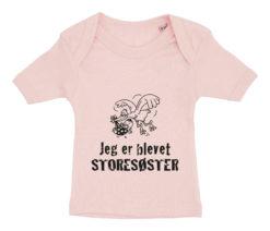 baby t-shirt jeg er blevet storesøster lyseroed