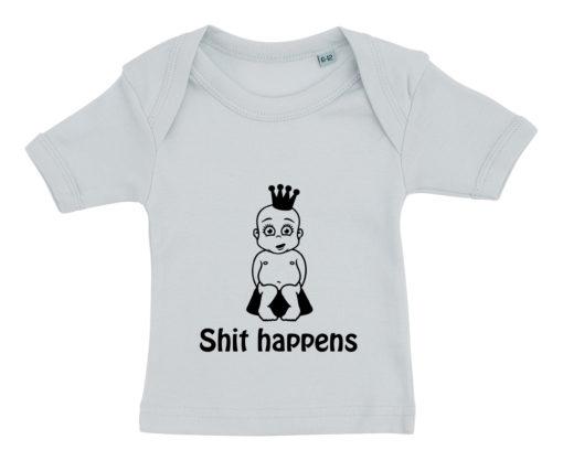 baby t-shirt shit happens prinsesse blaa