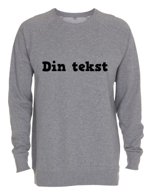 grå crewneck sweatshirt med din tekst