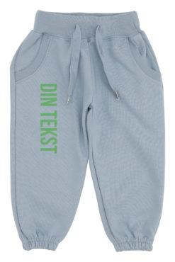 baby joggingbukser blaa med groen