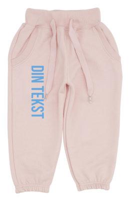 økologiske baby joggingbukser pink med blaa