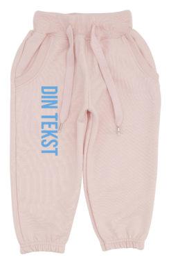 baby joggingbukser pink med blaa