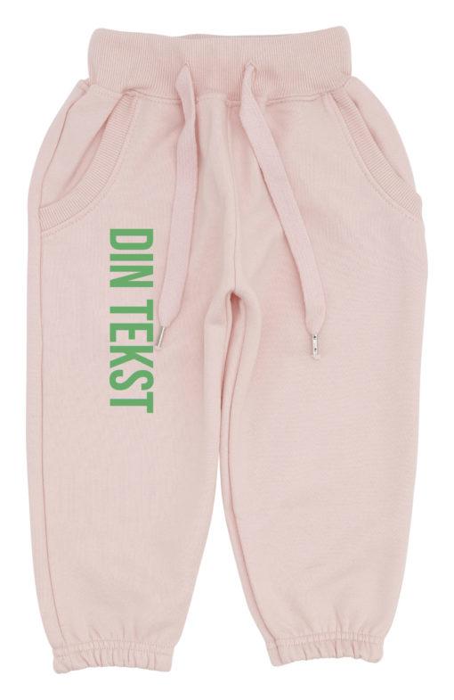 baby joggingbukser pink med groen
