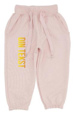 baby joggingbukser pink med guld