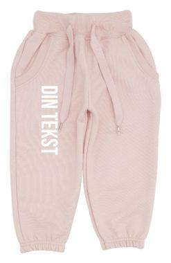 baby joggingbukser pink med hvid