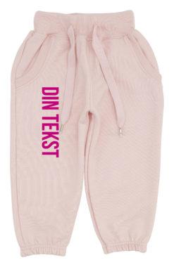 baby joggingbukser pink med pink