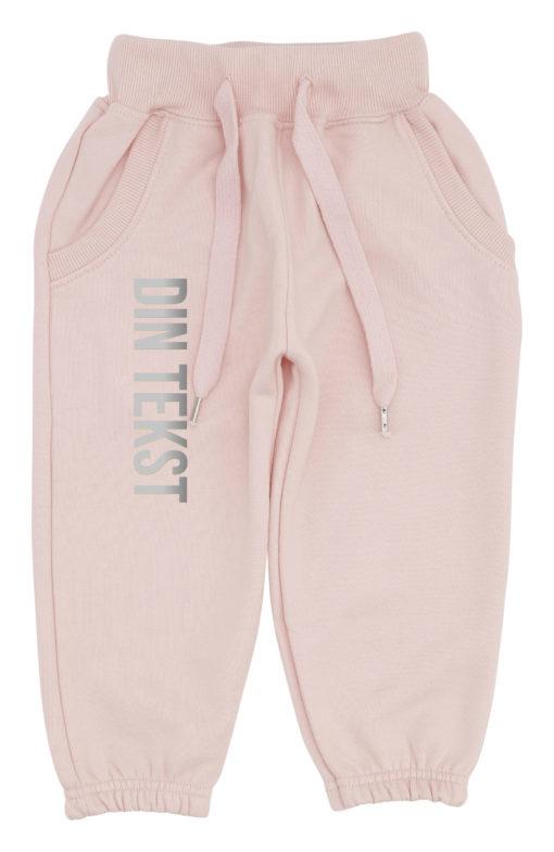 baby joggingbukser pink med soelv
